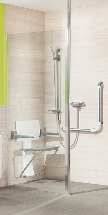 Impey Supreme Glass Shower Screen shown in Clear