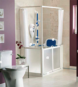 Half Height - White - Standard Shower Doors and Screens