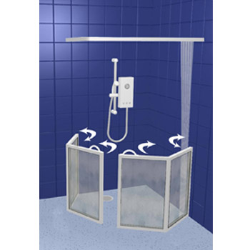 Contour Corner Access Half Height Shower Doors