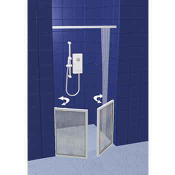 Contour Front Access Half Height Shower Doors