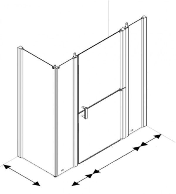Larenco Full Height Corner Access Doors