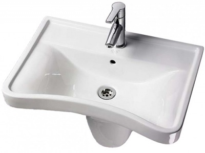 Concave Wash Basin Semi Ped