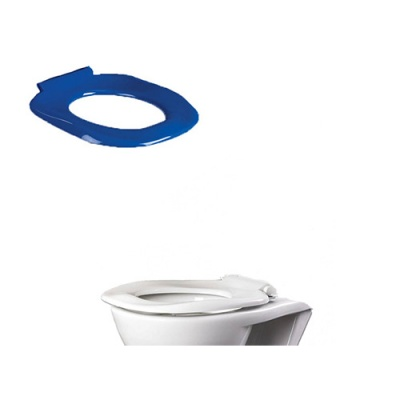 Ergonomic Toilet Seat without Lid (Blue or White)