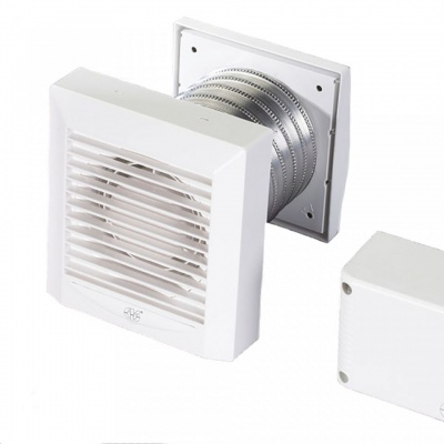 Low Voltage Bathroom Extractor Fan with Humidistat & Timer AKW100THP