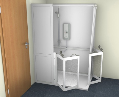Contour Half Cubicle Shower Enclosure Option 5 - Corner Twin Bi-Folding doors