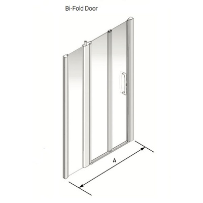 Larenco Alcove Full Height Shower Enclosure Bi-fold Door with 1 Inline Fixed Panel