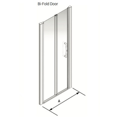 Larenco Alcove Full Height Shower Enclosure Bi-fold Door