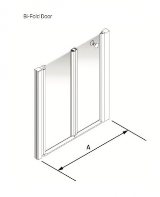 Larenco Alcove Half Height Shower Enclosure Bi-fold Door