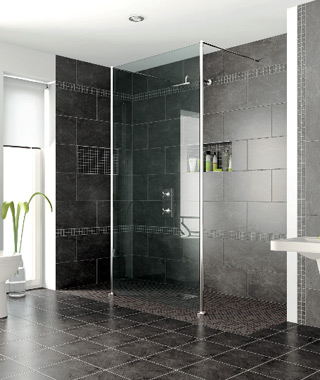 AKW Level Best Freestanding Shower Screens