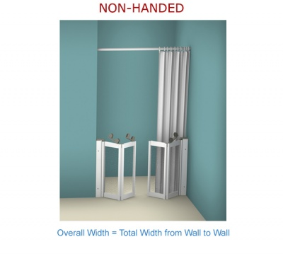 Contour Front Access WF19| Luxe Silver | Half Height Shower Doors Screens