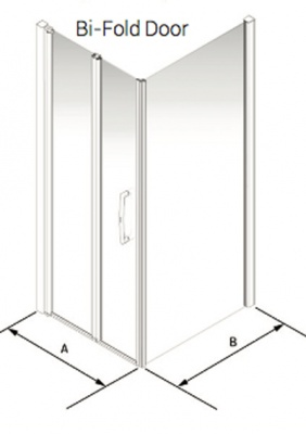 Larenco Corner Full Height Shower Enclosure Bi-Fold Door & Side Panel