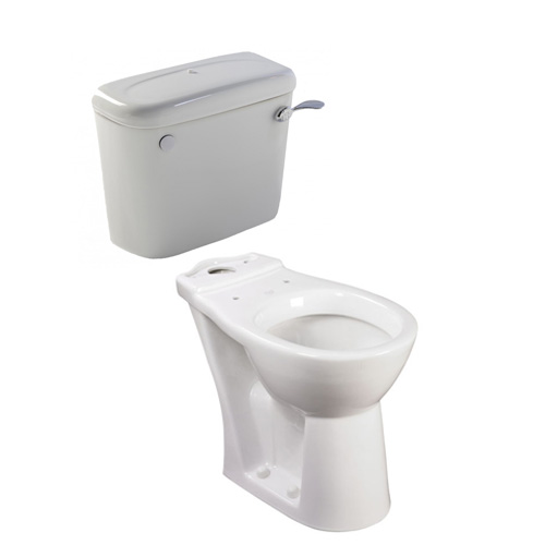 close coupled toilet pan and cistern 650mm projection. Black Bedroom Furniture Sets. Home Design Ideas