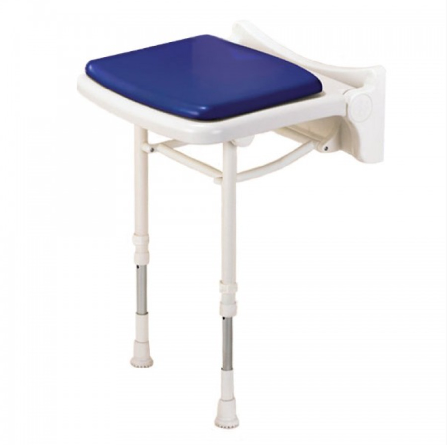 Fold Up Blue Padded Shower Seat 02210P