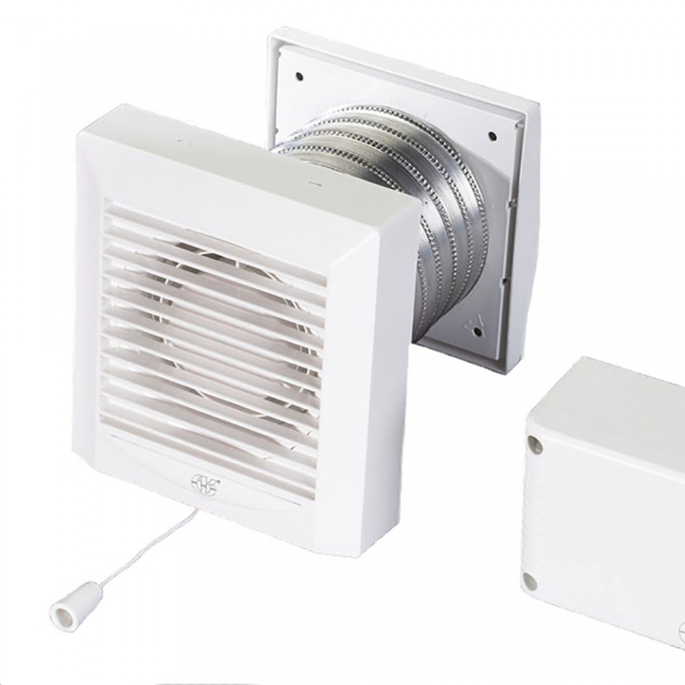 Low voltage bathroom extractor fan akw100p for Bathroom extractor fan