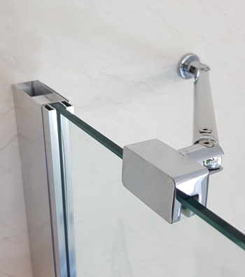 The beautiful Opulence range comes in a variety of options. The full height doors come with the illustrated wall bracket
