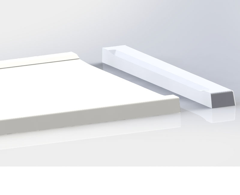 Falcon Shower Tray with non slip and anti bacterial properties. Can be cut to length