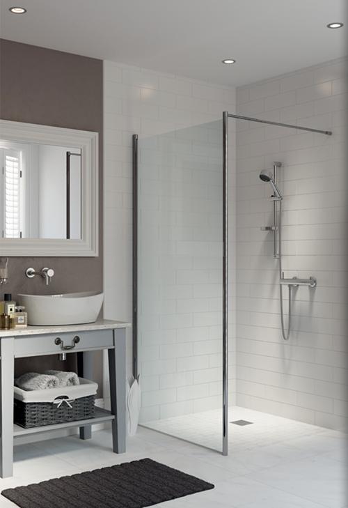 AKW Tuff Form Wet Room Floor Former Installed In A Wetroom With Tiled Floor
