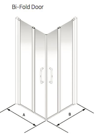 Wet Room Shower Screen Bi Fold