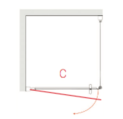 The Larenco Corner Full Height Shower Enclosure Plain Door & Single Panel are 1900mm high and have 6mm of clear toughened glass for added safety