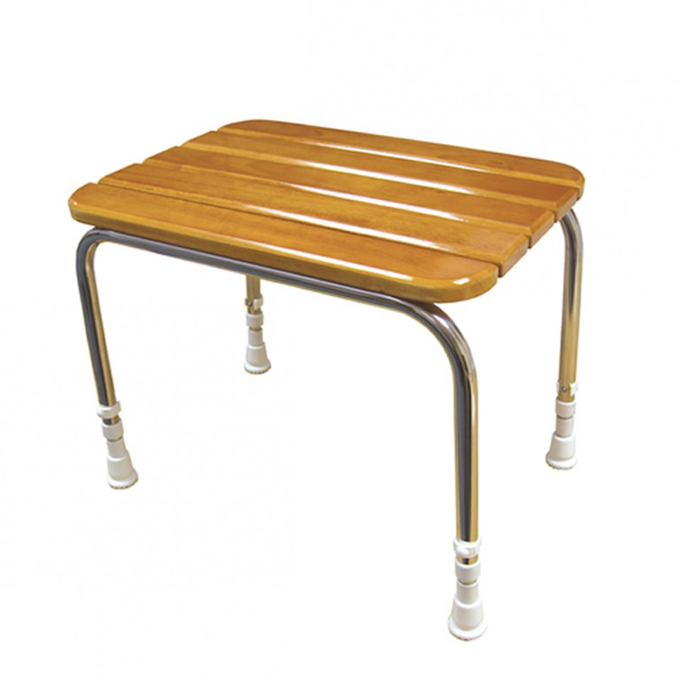 Shower Stool | Wooden Slatted Seat 05080