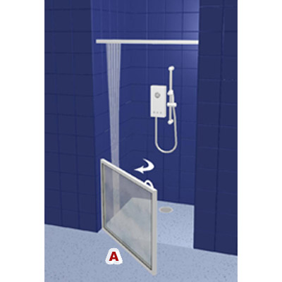 contour front access wf14 white half height shower doors