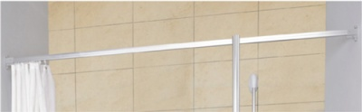 AKW Straight Curtain Rail - 1900mm - 24018