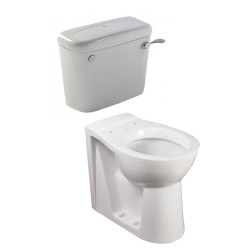 Low Level Back to Wall Toilet Pan and Cistern