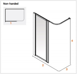 AKW Half Height Standard Screens -White - Option HF