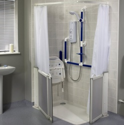 AKW White Shower Curtains