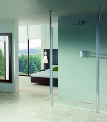 Impey Aqua-Screen Clear - 8mm Glass Shower Screen
