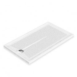 AKW Braddan Shower Tray with Upward Discharge Waste