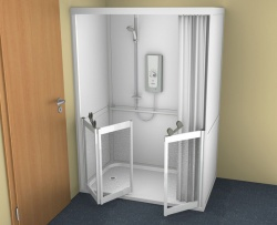 Contour Full Cubicle Shower Enclosure Option 1 - Single and Bi-Folding door