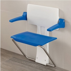 Impey Slimfold Shower Seat - Sky Blue