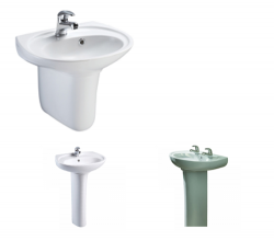 Livenza Washbasin | 1 or 2 tap hole | Semi ped or Full ped