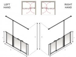 AKW Half Height Wet Floor Screens - White - Option PW