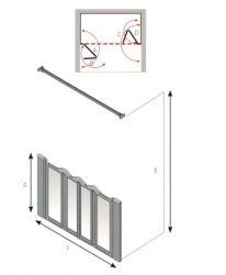 AKW Half Height Standard Screens - Silverdale - Option N
