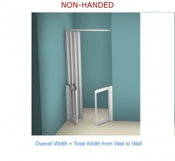 Contour Front Access WF15 | White | Half Height Shower Doors Screens