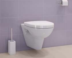 Fluid Wall Hung Pan with Slim Soft close Seat & Cover