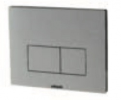 Chromo Brushed Aluminium Dual Flush Plate