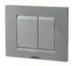Chromo Matt Chrome Essential Dual Flush Plate