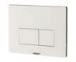 Chromo White Dual Flush Plate