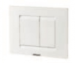 Chromo White Essential Dual Flush Plate