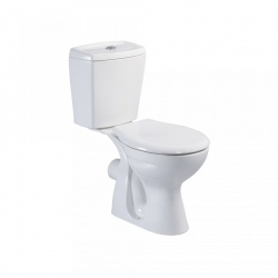 Close Coupled Toilet Pan Cistern and seat white