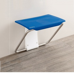 Impey Slimfold Shower Bench - Sky Blue