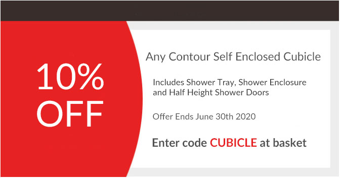 10% off any Contour self enclosed shower enclosure, 6 options available