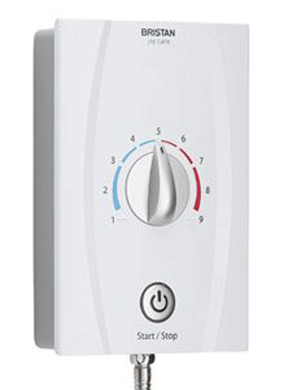 The Bristan Joy Care 8.5kW electric shower is designed for all family use and won't look out of place in any bathroom