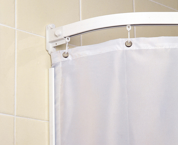 Wet Room Shower Curtains >> Curtain Rails And Weighted Shower Curtains