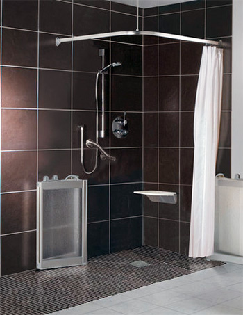 Open wf3 shower doors in luxe silver