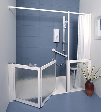 WF24 Half Height Shower Doors by Contour showers.
