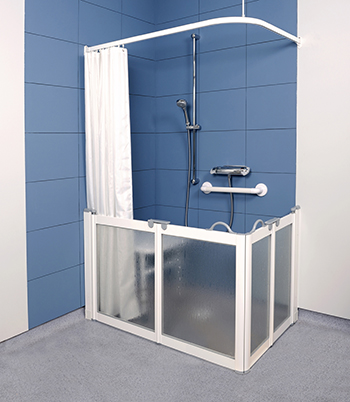 WF3 Twin Bifold Half Height Disabled Shower Doors